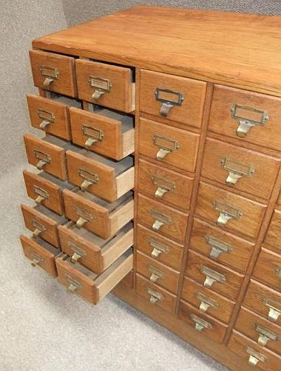 Vintage Index Filing Cabinet