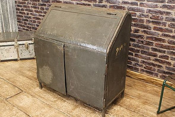distressed-grey-metal-cabinet