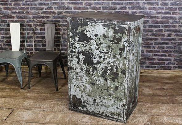 vintage steel industrial cabinet