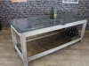industrial style kitchen work bench