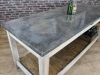 zinc top industrial kitchen island