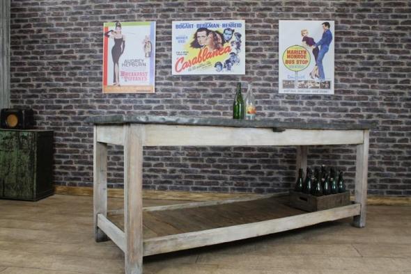 Zinc Top Kitchen Table