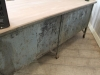 industrial retro metal bakers kitchen sideboard