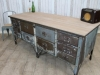 large metal work bench table