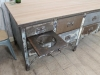 large vintage industrial sideboard