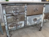 retro metal bakers table