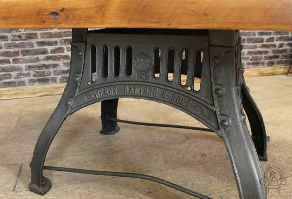 Industrial Kitchen Table Vintage Cast Iron