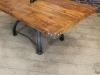 industrial table pine top