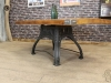pine top cast iron base table