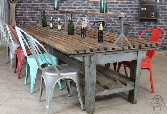 Lovely Rustic Restaurant Table