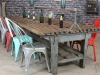 rustic restaurant table