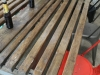 industrial timber and steel table