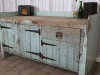 antique industrial pine sideboard