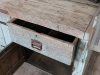 vintage industrial pine workbench