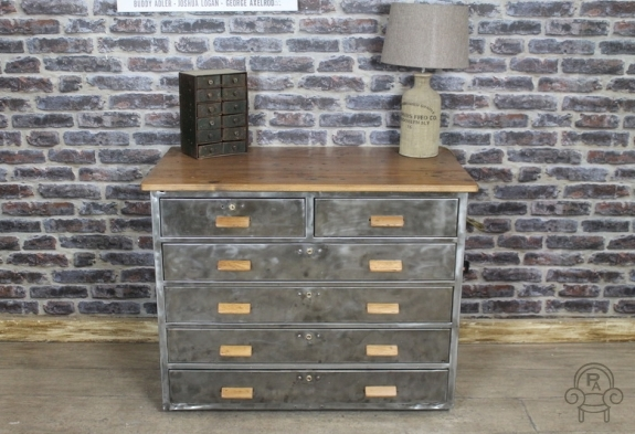 Vintage Metal Drawers 1950s Industrial Chest Of