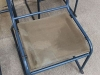 canvas seated original vintage stacking chair