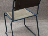 tubular steel stacking chair