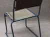 tubular steel stacking chair