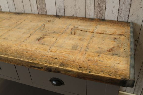 Industrial Bleached Top Sideboard Available In Two Sizes