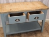 industrial sideboard with bleached top