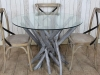grey wash rustic branch table