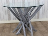 rustic driftwood table grey wash