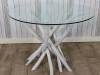 rustic driftwood table white wash natural