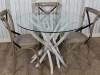 rustic driftwood table white wash