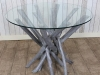 rustic kitchen table grey wash
