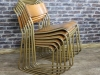 gold frame stacking chair