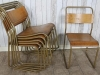 old vintage stacking chairs