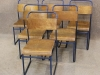 retro steel stacking chairs