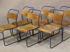 steel stacking chair