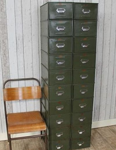 Vintage Metal Filing Drawers 1950s Original Industrial Cabinets In Uk