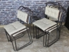 upholstered vintage stacking chairs