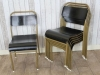 black seat stacking chairs