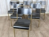 gold framed stacking chairs