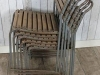 vintage stacking slatted chair