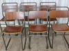 vintage retro stacking chairs