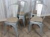 galvanised metal chairs