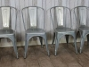galvanised metal stacking chairs