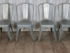galvanised metal tolix chairs