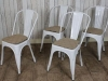 industrial tolix style chairs