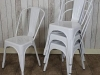 industrial tolix style stacking chairs