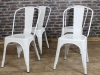 industrial white tolix chairs