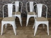 metal tolix chairs white