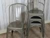 vintage gun metal chairs