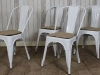 vintage tolix stacking chairs