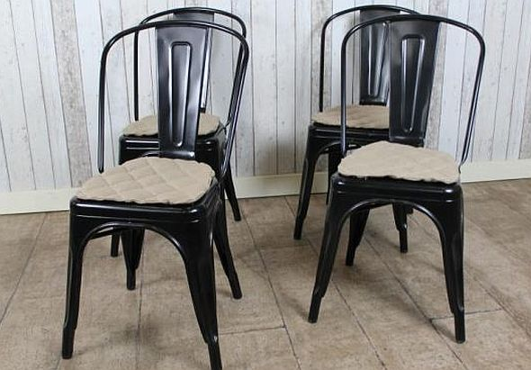 tolix cafe chairs & METAL TOLIX CHAIR AVAILABLE IN A CHOICE OF FOUR COLOURS MATCHING TAB