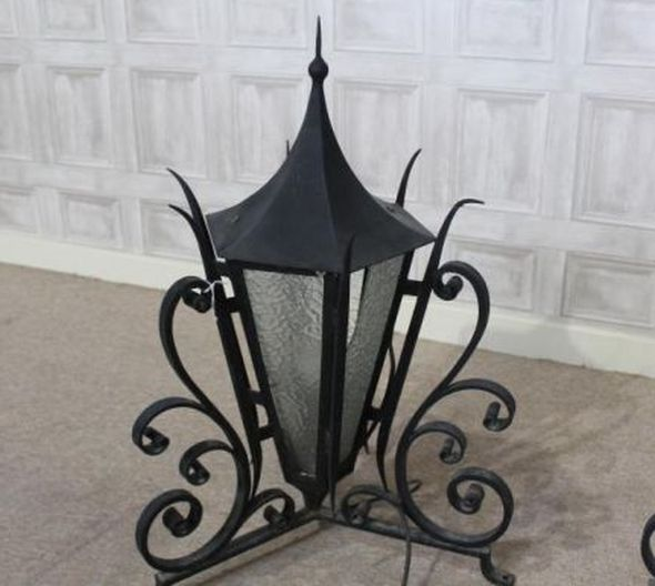 Wrought Iron Lanterns A Pair Of Ornate Outdoor Lights